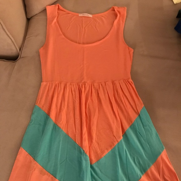 Fascination Dresses & Skirts - Fascination Peach and Teal Dress